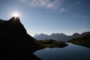 Sonnenuntergang am Rappensee / Allgäuer Alpen