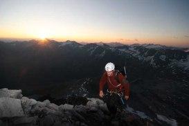 Sonnenaufgang am Hintergrat / Ortlergruppe