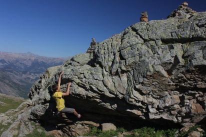 Bouldern am Weg zum Lac Paluet / Dauphiné