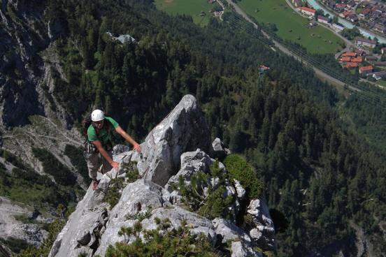 Fester Fels am Kofler Turm / Karwendel