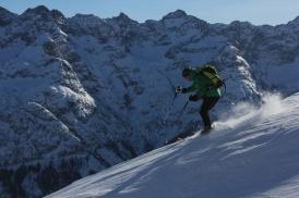 Abfahrt vom Kreuzkopf /Allgäuer Alpen