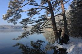 Wintermärchen am Großen Ostersee / Oberbayerische Alpenvorland