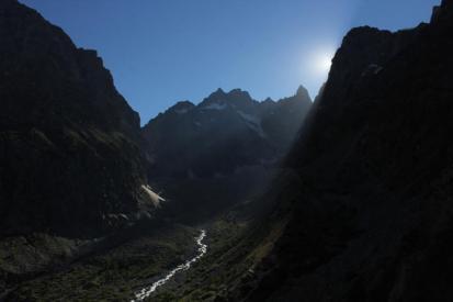 Am Aufstieg zum Refuge Glacier Blanche / Dauphiné