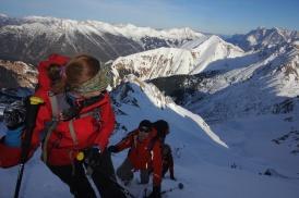 Am Gipfelgrat zum Roten Stein / Lechtaler Alpen